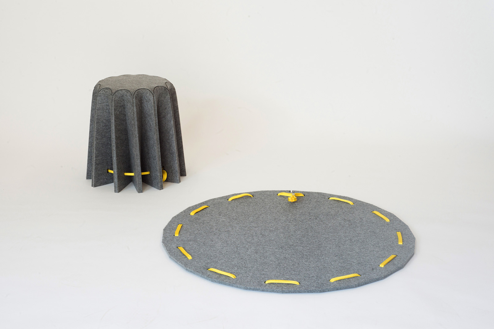 Design Amorce Studio Brussels Amar Felt Stool