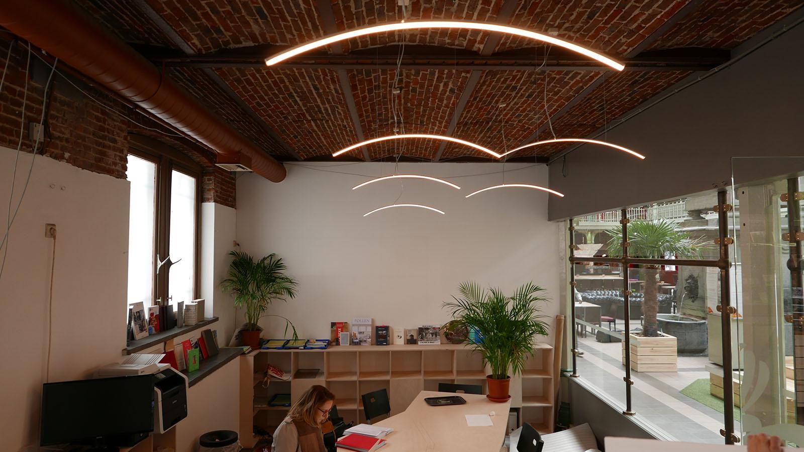 bureau global design for halles saint gry office custom design and furniture production table bookcases sofa lights - Bureau Design